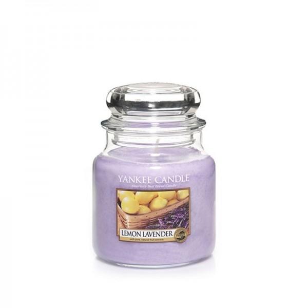Yankee Candle Duftkerze «Lemon Lavender» mittel (medium Jar 411g)