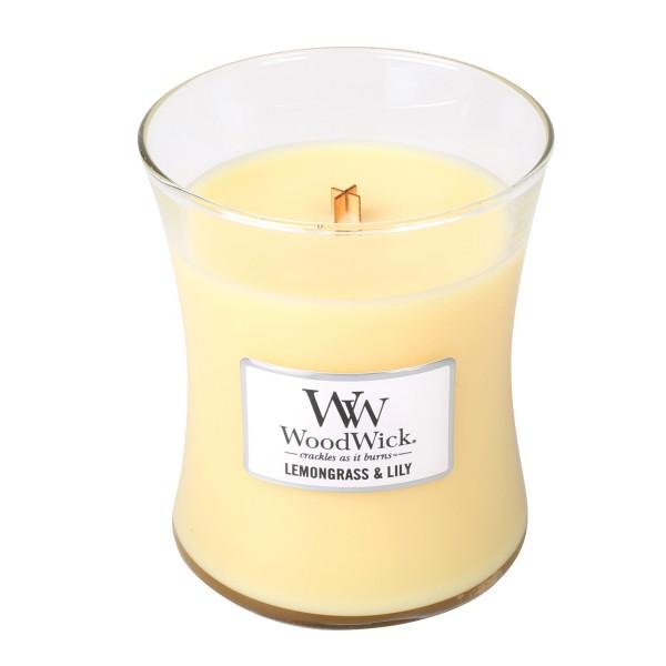 WoodWick Duftkerze «Lemongrass & Lily» mittel