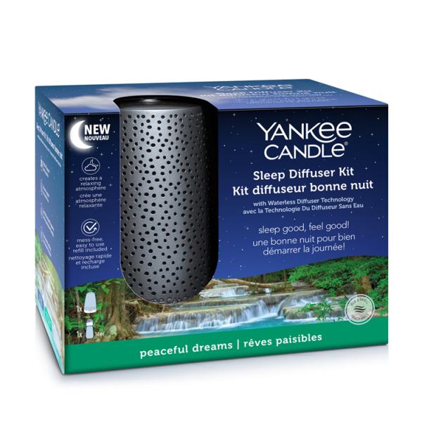 Yankee Candle Duftsystem «Sleep Diffuser EU Silber Starter Kit und 1x Peaceful Dreams Nachfüller»
