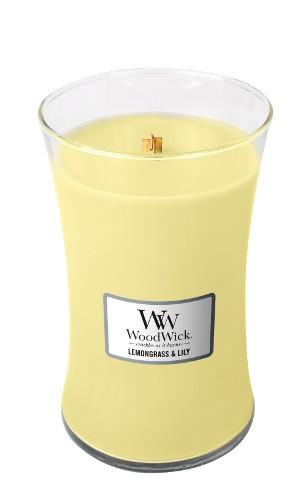 WoodWick Duftkerze «Lemongrass & Lily» gross