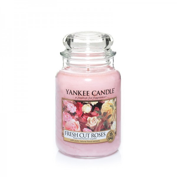 Yankee Candle Duftkerze «Fresh Cut Roses» gross (large Jar 623g)