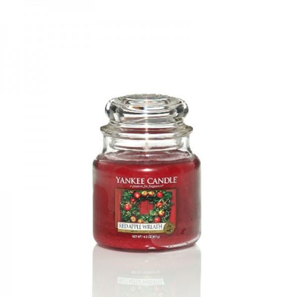 Yankee Candle Duftkerze «Red Apple Wreath» mittel (medium Jar 411g)