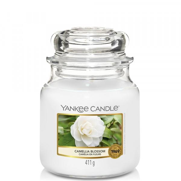 Yankee Candle Duftkerze «Camellia Blossom» mittel