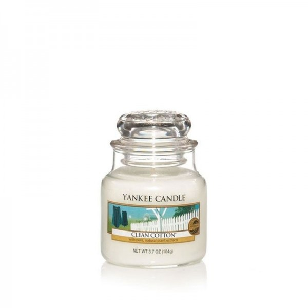 Yankee Candle Duftkerze «Clean Cotton» klein (small Jar 104g)