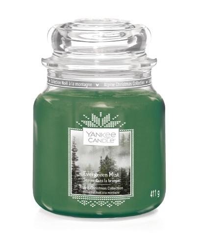 Yankee Candle Duftkerze «Evergreen Mist» mittel