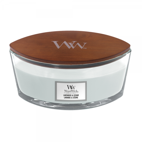 WoodWick Duftkerze «Lavender & Cedar» Ellipse