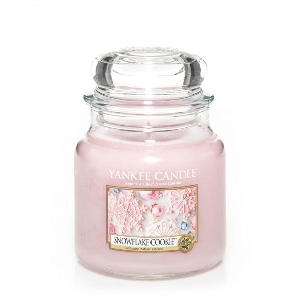 Yankee Candle Duftkerze «Snowflake Cookie» mittel (medium Jar 411g)