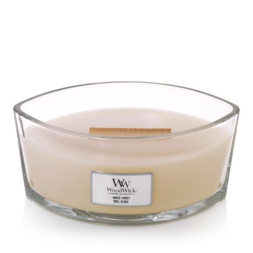 WoodWick Duftkerze «White Honey» Ellipse
