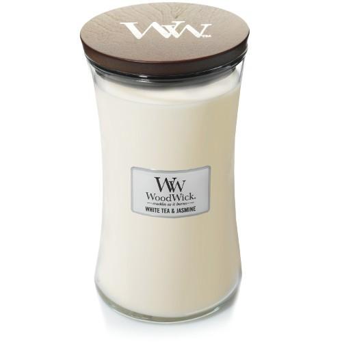 WoodWick Duftkerze «White Tea & Jasmin» gross