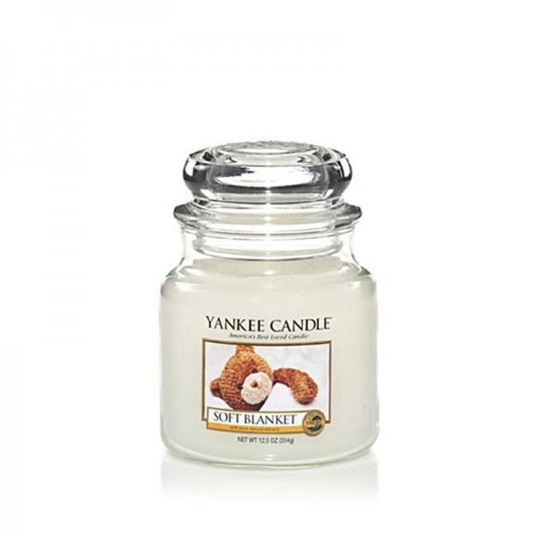 Yankee Candle Duftkerze «Soft Blanket» mittel (medium Jar 411g)